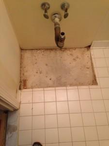 No Tile Under Vanity